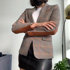 Esprit Plaid Checkered Blazer Jacket